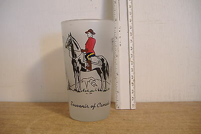 ~Souvenir Of Canada~Glass~Features Canadian Mounted Police & Providences