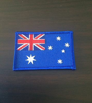 AUSTRALIAN FLAG Sew On / Iron On Patch.     Australia flag Embroidered Badge