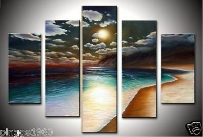 MODERN ABSTRACT ART OIL PAINTING ON CANVAS beautiful sea landscap(no framed)P133