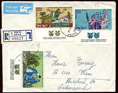 Israel 1971 Registered Cover To Austria #C22452