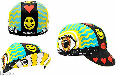 Cinelli Eye Of The Storm Cotton Bike Cycling Cap Vintage Fixed Gear