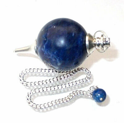 Sodalite Crystal Ball Dowsing Pendulum Aids Spiritual Understanding of Truth