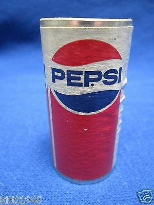 1970's PEPSI LOGO HARD METAL ALUMINUM EMPTY OPEN ENDS TOY PLAY HOUSE CAN NOVELTY