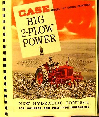 """J.I. Case Model """"S"""" 2 - Plow Tractor Sales Manual  Fully Illustrated FSH"""