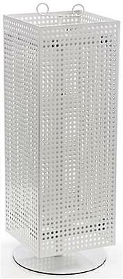 AYS Retail Magnet and Peg Hook Counter Spinner Display Rack (White)