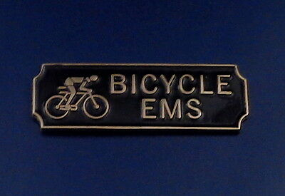 BICYCLE EMS Award.Commendation Uniform Bar Gold on Black police/sheriff/fire