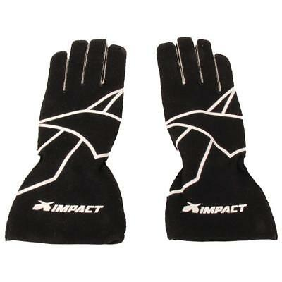 Impact 35500610 Axis Black Racing Race Driving Gloves, SFI-5 Certified, Size XL