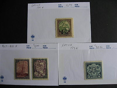 LATVIA nice old assembly in sales cards,unverified,check them out!