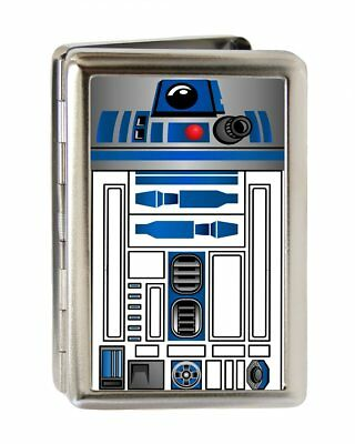 Star Wars R2-D2 Close-Up Large Metal Business Card Credit Card Holder NEW UNUSED