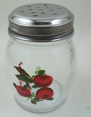 RED APPLE PARMESAN RED PEPPER SHAKER SPICE PIZZA GLASS SEASONING