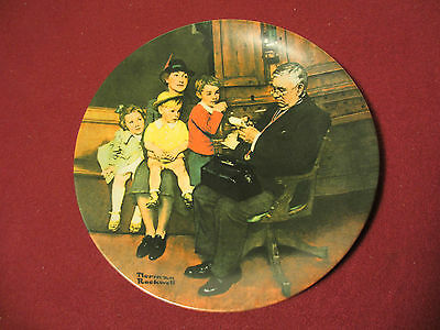 """Edwin M. Knowles collector plate """"The Family Doctor""""  by Norman Rockwell"""