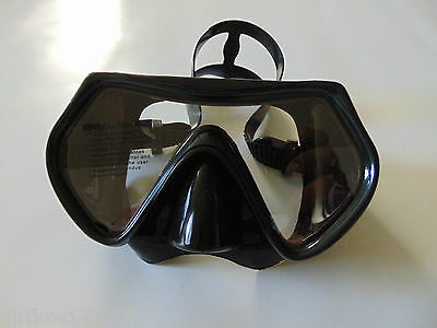 Scuba Diving Black Tempered Glass Silicone Mask
