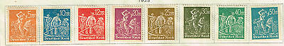 Germany Weimar Republic Coal Industry and Agriculture stamps 1923 MLH