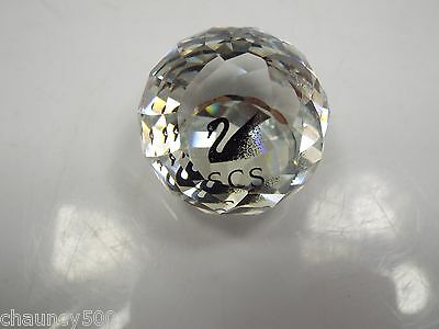 Swarovski Crystal Ball Paperweight, SCS and Swan mark