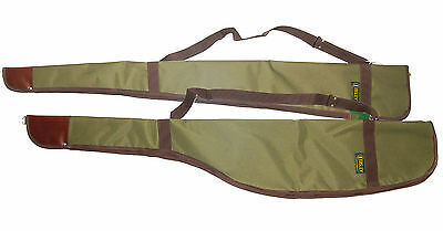 Bisley Green Canvas Fleece Lined Rifle / Shot Gun Cover Slip Hunting Shooting
