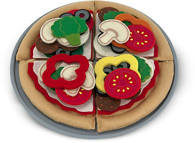 Melissa & Doug FELT FOOD PIZZA SET Baby/Toddler/Child Stuffed Take-apart BN