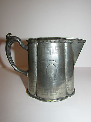 Antique Collectable Silver Plated Superior Electro Creamer Jug