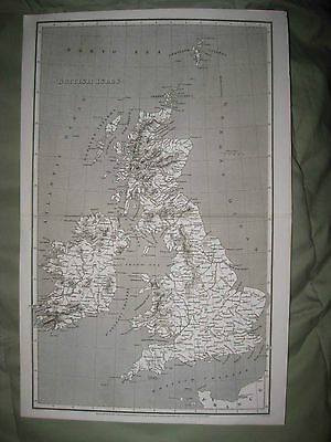 Antique 1808 British Isles England Ireland Scotland Wales Arrowsmith Dated Map N
