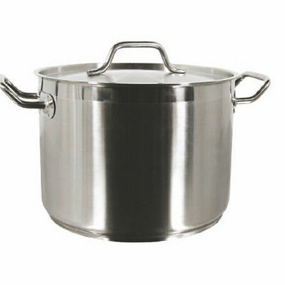 THUNDER Group SLSPS040 Stock Pot 40 Quart With Lid Induction Ready 18 8 S S