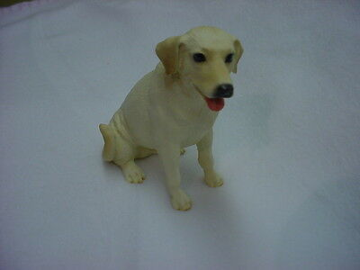 YELLOW LAB FIGURINE dog HAND PAINTED STATUE Puppy COLLECTIBLE Labrador Retriever