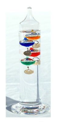 18cm tall free standing Galileo thermometer