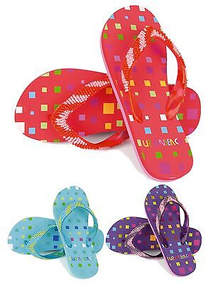 4701d49399b5a3 Kids Girls Urban Beach Beaded Sandals Flip Flops Toe Posts Summer Shoes UK  10-2