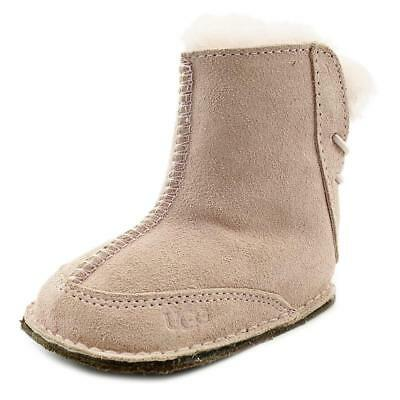 Ugg Australia I Boo Infant  Round Toe Suede Pink Winter Boot