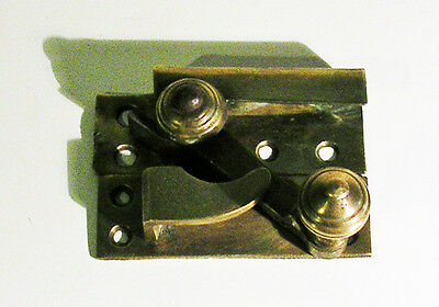 Antique / Vintage English Solid Brass Double or Single Hung Window Latch