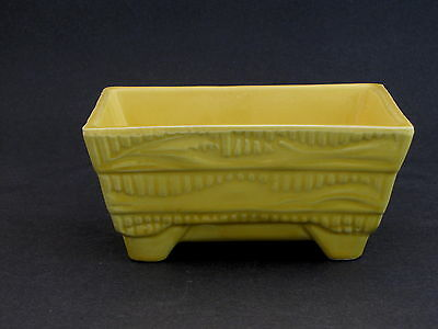 "Shawnee Pottery Planting Bowl in Gloss Yellow, 4"" x 6 1/4"", #1002"
