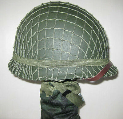 M1 Collectable Replica WWII US Army Green Helmet with Net Canvas chin strap