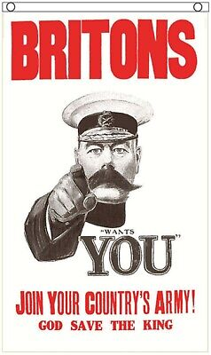 Lord Kitchener Your Country Needs You Fabric Poster 5'x3' Flag