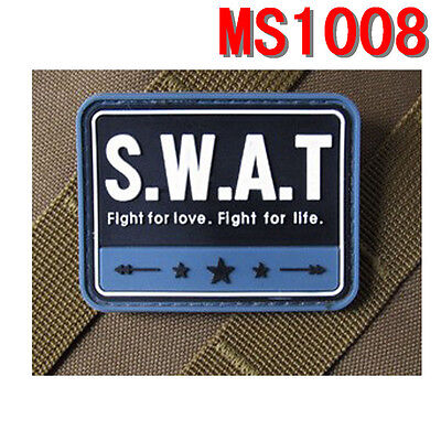 Tactics Special Weapons Blue S.W.A.T PVC Rubber Magic Patches Hot Sale