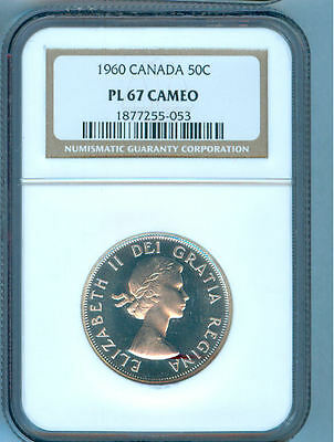 1960 Canada 50 Cents Ngc Pl-67 Cameo