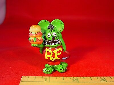 OFFICIAL ED ROTH RAT FINK WITH HAMBURGER KEY CHAIN GREAT GIFT HARD TO FIND ITEM!