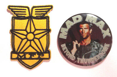 Mad Max/Mel Gibson Road Warrior Movie Promo Button w MFP Uniform Patch