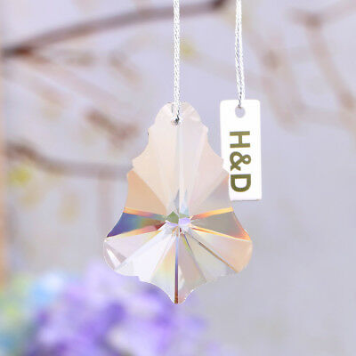 10 Clear Chandelier Glass Crystals Lamp Prisms Parts Hanging Drops Pendants 50MM