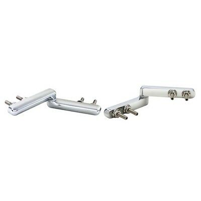 "Speedway Pair of Chrome Plated Trunk Deck Lid Hinges Set, 5.5"" L, 1.19"" W"