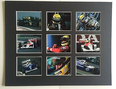 "Ayrton Senna Formula 1 14"" By 11"" Mounted Picture Ready To Frame"