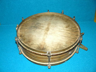 1920s/30s SONOR : Brass SNARE DRUM @ Antique PERCUSSION - Vintage BAND MUSIC