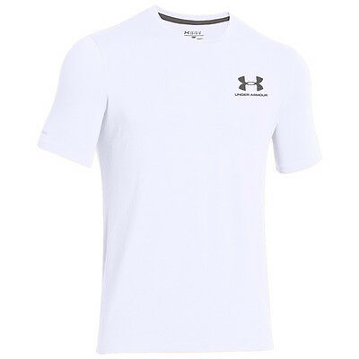 Under Armour Charged Cotton Sportstyle Left Chest Logo T-Shirt White 1257616-100