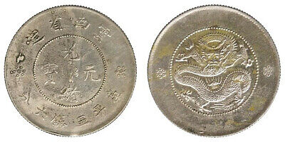 Cina China Yunnan Province 50 Cents ND(1911-15) Argento Silver #2318