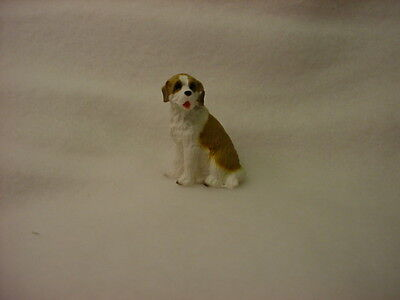 SAINT BERNARD puppy TiNY DOG resin Figurine HAND PAINTED MINIATURE St MINI NEW