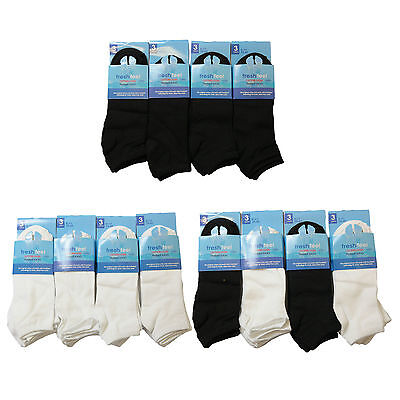 S86 MENS 12prs NEW COTTON BLEND TRAINER SOX LINERS GYM DURABLE SPORTS SOCKS 6-11