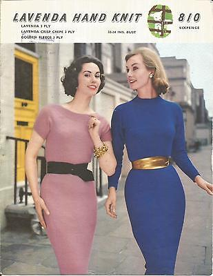 Vintage  Knitting Pattern Two Dresses