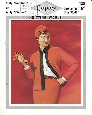 Vintage  Knitting Pattern Ladies' Suit (Jacket & Skirt) With Hat