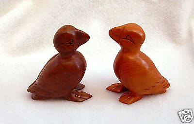hand carved wooden puffin in quality hard woods