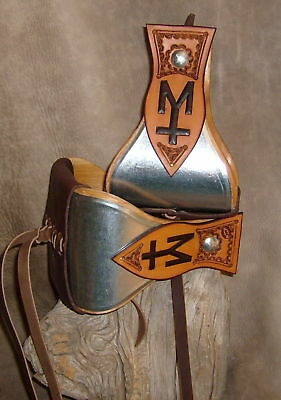 """Custom 5"""" Wide Metal Bound Bell Stirrups To Be Personalized With Your Brand. G&E"""