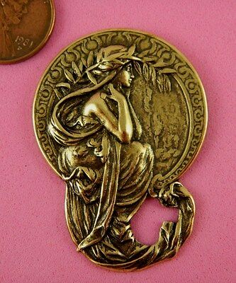 "ANTIQUE BRASS 4 ARTS ""POETRY"" MUCHA STYLE MAIDEN - 1 PC(s)"