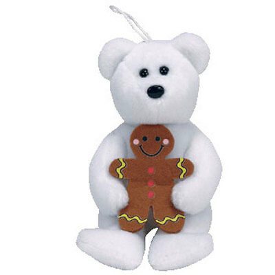 TY Jingle Beanie Baby - GOODY the Bear (5 inch) - MWMT's Christmas Ornament Toy