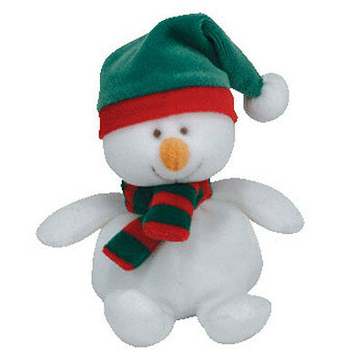 TY Jingle Beanie Baby - ICECAPS the Snowman (5 inch) - MWMT's Christmas Ornament